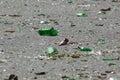 Bottle shards shattered Royalty Free Stock Photo