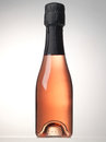 Bottle of sparkling wine pink Stock Image