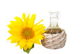 Bottle of sunflower oil Royalty Free Stock Photo