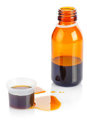 Bottle of syrup medication Stock Photo