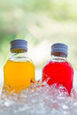 bottle with tasty drink Royalty Free Stock Photo