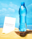 Bottle of water cold on a hot day Stock Photography