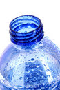 bottle with water drops Royalty Free Stock Photo