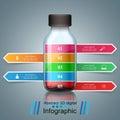 Bottle, water infographics.