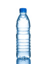 Bottle water small plastic on white background Royalty Free Stock Photography