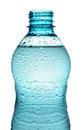 Bottle with water splash isolated open Stock Photos