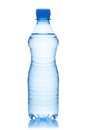 Bottle of water on the white background clipping path included Stock Photography