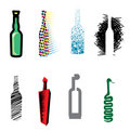 Bottle web icons Royalty Free Stock Photo