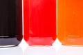 Bottled Blueberry, Strawberry, Orange Jam VII Royalty Free Stock Photo