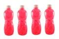 Bottled fruit juice pink isolated on a white background Stock Photography