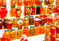 Bottled suits tradional home made sweets at portaria village on pilion mountain in central greece Stock Photos