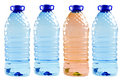 Bottled water isolated on the white Royalty Free Stock Photo