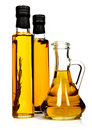 Bottles of aromatic olive oil. Stock Photos