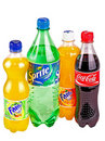 Bottles with beverages Royalty Free Stock Photography
