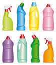 Bottles of cleaning products Royalty Free Stock Photos