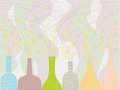 Bottles coloring is on the light background Royalty Free Stock Photography
