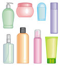 Bottles of cosmetic products Royalty Free Stock Images