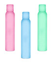 Bottles for cosmetic sprays Royalty Free Stock Photo