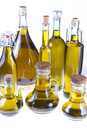 Bottles of extra virgin olive oil Royalty Free Stock Photography