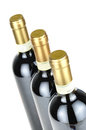Bottles of fine italian red wine Royalty Free Stock Images