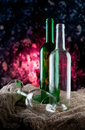 Bottles and glass Royalty Free Stock Photos