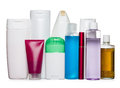 Bottles of health and beauty produc Stock Photos