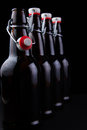 Bottles home brew easy cap beer Stock Images