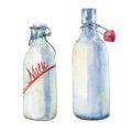 Bottles of milk.
