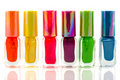 Bottles nail polish Royalty Free Stock Photo