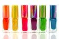 Bottles nail polish Royalty Free Stock Photo