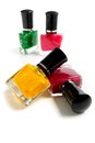 Bottles of nail polish Royalty Free Stock Photography