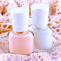 Bottles of nail varnish Royalty Free Stock Image