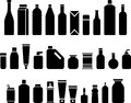 Bottles and packaging icons Stock Image