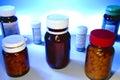 Bottles of pills Royalty Free Stock Photo