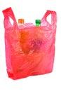 Bottles in Plastic Bag Stock Image