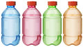 Bottles of safe drinking water illustration the on a white background Royalty Free Stock Photo