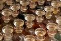 Bottles of scented oils