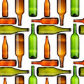 Bottles seamless Royalty Free Stock Image