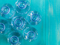 Bottles of Still Mineral Water Royalty Free Stock Photo