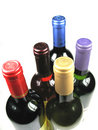 Bottles of wine Stock Images