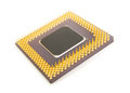 Bottom of a computer processor chip Royalty Free Stock Photo