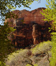 Bottom of Grand Canyon scene Royalty Free Stock Photo
