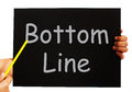 Bottom line blackboard means net earnings per share meaning Stock Images