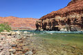 On the bottom of Marble Canyon