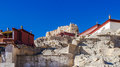 Bottom view of guge ruins in tibet Stock Photography