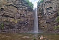 Bottom view of Taughannock Falls in rural New York Royalty Free Stock Photo
