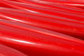 Bottoms of canoes abstract red several Royalty Free Stock Images