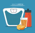 Botttle juice scale healthy lifestyle icon
