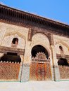 The bou inania madrasa in fes morocco built by marinid sultan abu inan faris old medina of africa Royalty Free Stock Photos