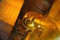 Bouddha étendu wat pho bangkok thaïlande Images stock